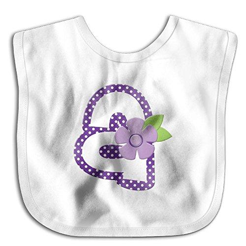 Purple Letter-a Bibs Baby Bibs Cartoon Infant Skin-friendly Towel White