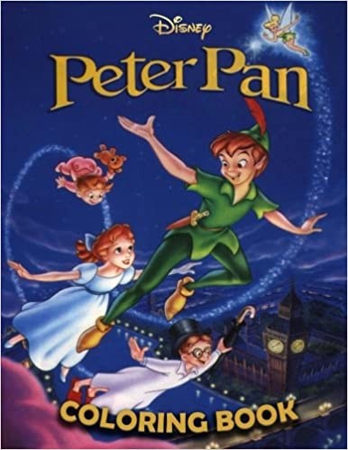 Peter Pan coloring book: Great coloring pages for kids ages 4-8 ...
