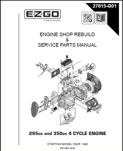 amazon com ezgo 27615g01 1996 2008 shop rebuild manual for 4 cycle rh amazon com ez go golf cart parts diagram ezgo golf cart motor parts