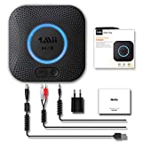 1mii Receptor Bluetooth 5.0, Adaptador Audio Bluetooth Hi-Fi para Bocina con RCA y AUX 3.5 mm Jack, Receptor Audio Inalámbrico Bluetooth 3D Surround AptX LL para Estéreo Hogar, Largo Alcance