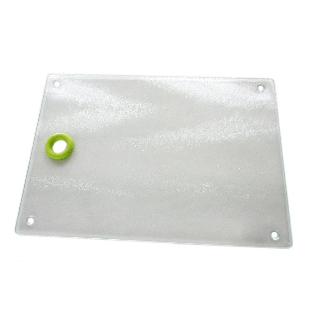 Mehrfunktional Hartglas Geh/ärtetes Glas Schneidebrett Glasschneidebrett Schneideplatte Schneidematte Schneideunterlage Tranchierbrett K/üchenbrett Cutting Chopping Board FCSCB038M 20x30cm