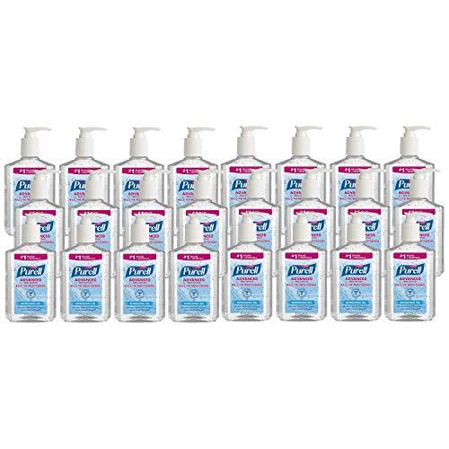 Advanced Hand Sanitizer Refreshing Gel, Clean Scent, 8 oz Pump Bottle / 24 Bottles