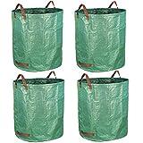 Gardzen 4-Pack 72 Gallon Bag - Reuseable Heavy Duty Gardening Bags, Lawn Pool Garden Leaf Waste Bag