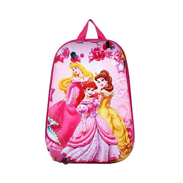 Aqua De Vida Cotton and Polyfill 15 L Pink 3D Disney Cinderella Barbie Waterproof Backpack