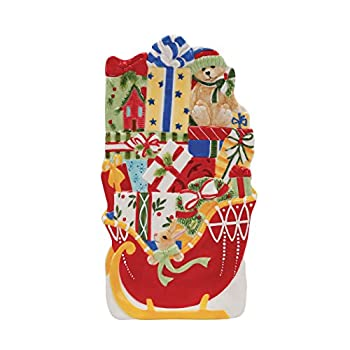 Candy Cane Santa Collection, Elongated Tray