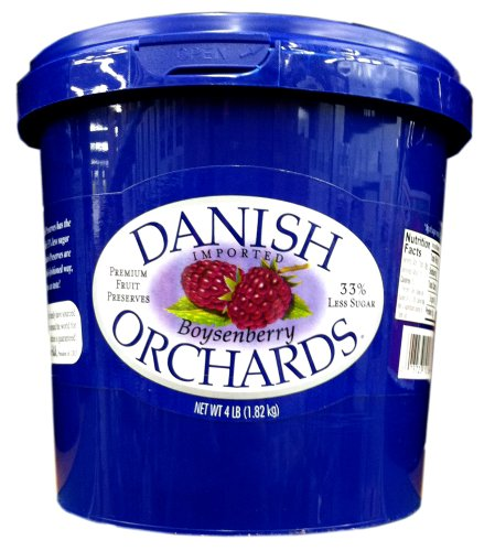 Danish Orchards Preserves, Boysenberry, 4-Pound by Danish Orchards