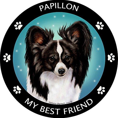 - My Best Friend Papillon - Black & White Magnet