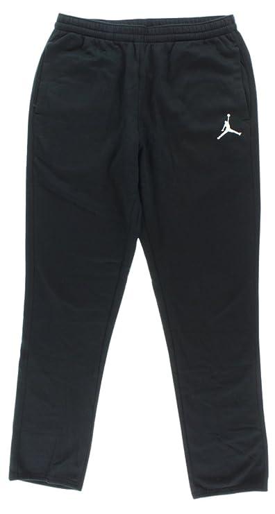 3658b54e351 Amazon.com: Jordan Nike Mens Jumpman Brushed Tapered Fit Sweatpants Dark  Grey Heather/Black 688999-063 Size Medium: Sports & Outdoors