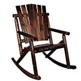 MAGIC UNION Rocking Chair Single Porch Rocker Hardwood Rustic Large Space Patio Furniture Review