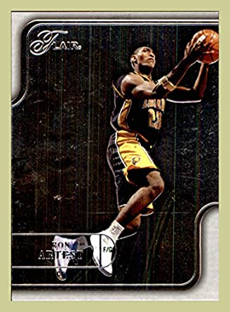 88c2e9abddeb 2003-04 Flair  53 Ron Artest INDIANA PACERS ST. JOHN S REDMEN (ast) at  Amazon s Sports Collectibles Store