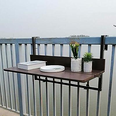 Mesa Plegable de Pared Mesa Montada en la Pared del Balcón al Aire Libre, Mesa Plegable de Jardín, Mesa de Barandilla de Terraza, Adecuado para Restaurantes de Balcones Jardines (Size : 80x37cm):