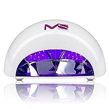 MelodySusie 12W LED Nail Dryer - Nail Lamp Curing LED Gel Nail Polish, Professional for Nail Art at Home and Salon - White