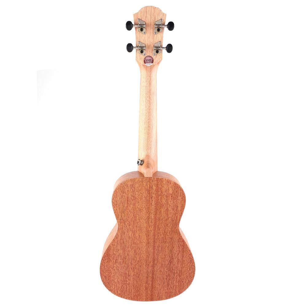 23 Inch Hawaiian Ukulele Portable 4 String Ukulele Wooden Ukulele Stringed Instrument Gift for Children Kids Beginners