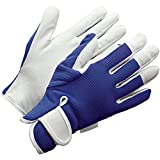 Gardening Gloves (Large Womens/Medium Mens) Blue Slim-fit Work Gloves. Ideal for...
