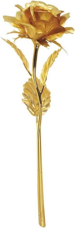 Pixnor Rosa bañada en oro de 24 K de alta pureza, una obra de arte, el mejor regalo para el día de San Valentín, Día de la madre, Navidad, cumpleaños, bodas - Hecho a mano, dura para siempre