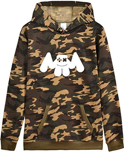 Emilyle Polaire Longues Camouflage Sweat Marshmello shirt À Pull Manches Homme Fans Dj Ado M Edm OpqrOWwYz