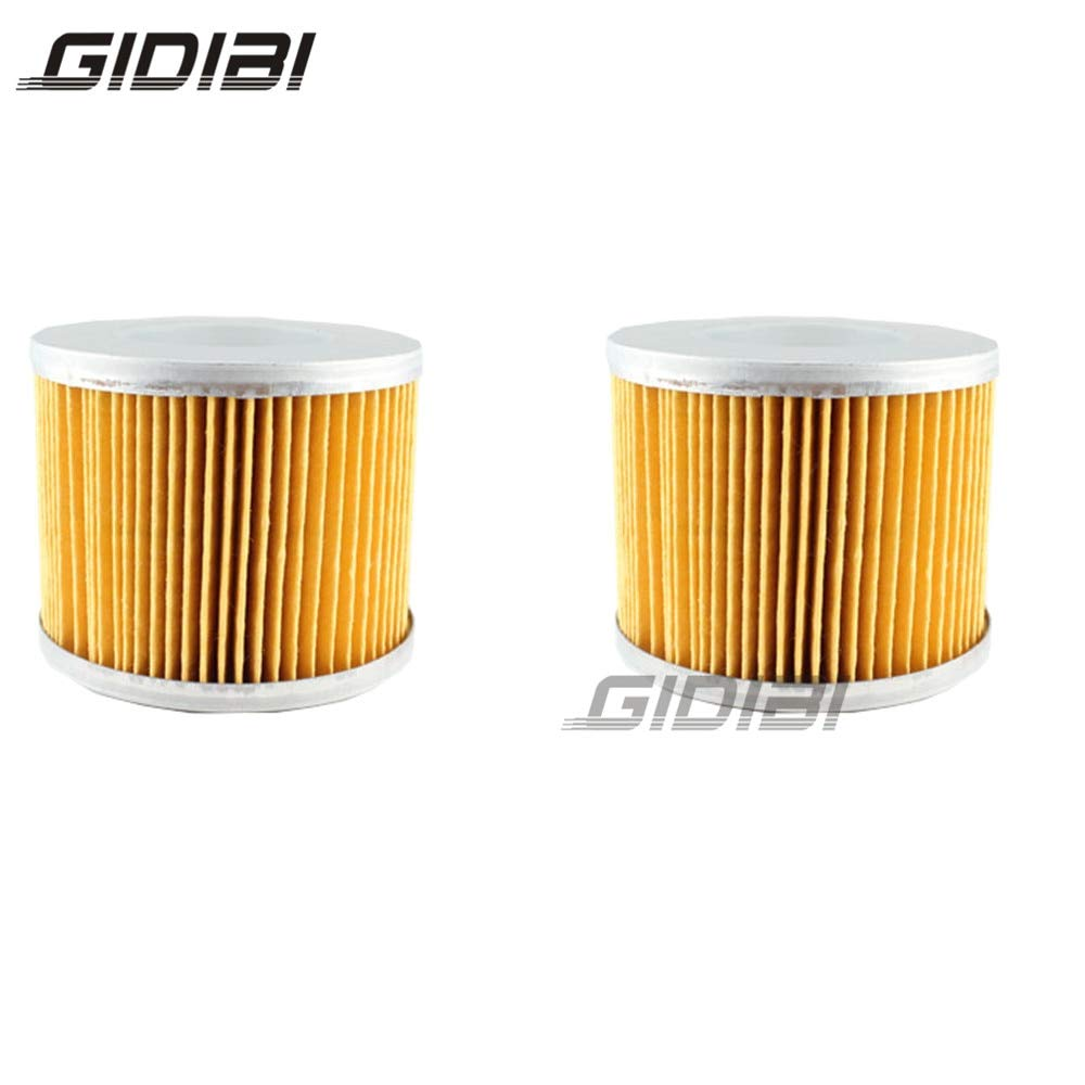 Fincos 2 Pcs Motorcycle Oil Filter for SYM Scooter 400i Max Sym 2011 2012 2013 Paper and Metal