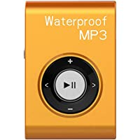 GZCRDZ IPX8 Waterproof Swimming MP3 Player Built-in 8GB MP3 Music with FM Radio Hi-Fi Headphone for Diving Surf…