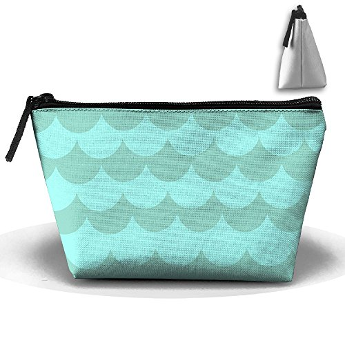 Light Sea Waves Travel&home Portable Trapezoidal Make-up Receive Bag Hand Cosmetic Bag