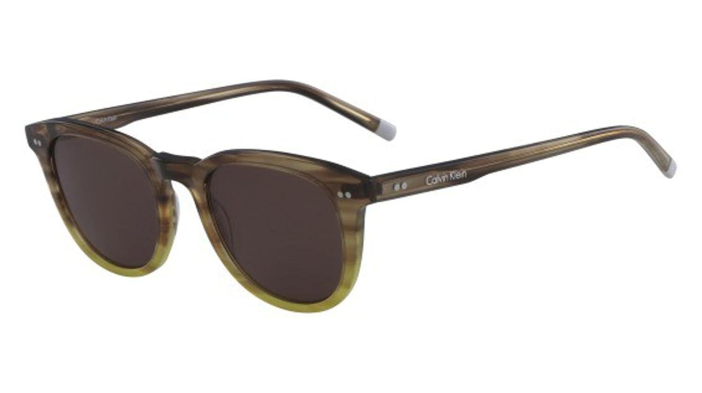 Sunglasses CK 4358 S 203 STRIPED BROWN//YELLOW