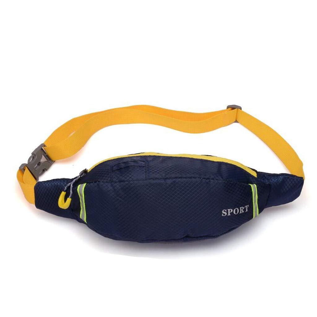 Outtop(TM) Sport Crossbody Bag Fashion Outdoor Students School Luminous Strip Chest Bag Phone Bag Messenger Bags (Dark Blue)