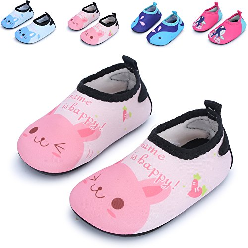 Baby and Kids Athletic Sneakers Barefoot Water Shoes for Beach Swim Pool,Pink Cat 6-12 Months