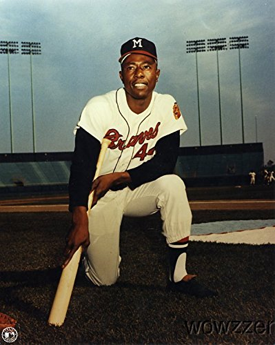 Hank Aaron Atlanta Braves MLB Hologram 8x10 Color Glossy Photo #4 in Mint Condition This Great Looking Officially Licensed High Quality Collectible Photo comes in a BCW Acrylic Protective Top Bravo Acrylic