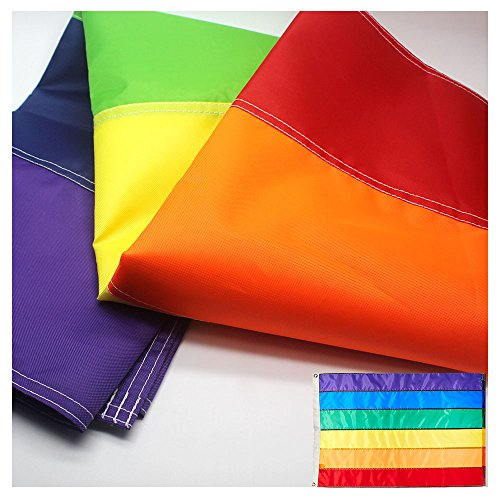 LGBT+ Rainbow Flag 3x5 Foot with Sewn Stripes - Brass Grommets - UV Protection – LGBT/Gay Pride Banner Flags