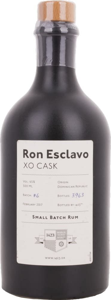 1423 World Classic Spirits Esclavo XO Cask Ron de Lote Pequeño - 500 ml
