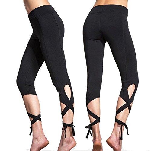 Fineshow Stretchy Workout Non through Leggings