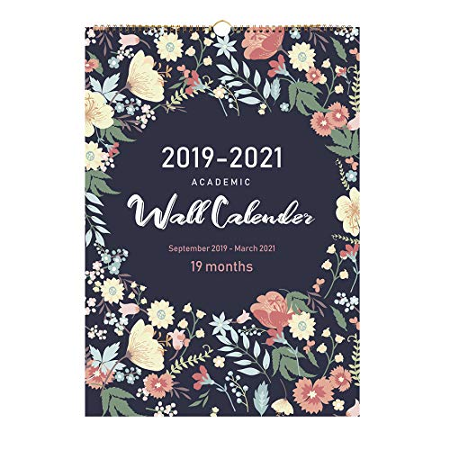 2020 Calendar-19 Monthly Wall Calendar with Thick Paper,Large Wall Calendar 12x17 Inches,Vibrant and Colorful September 2019- March 2021