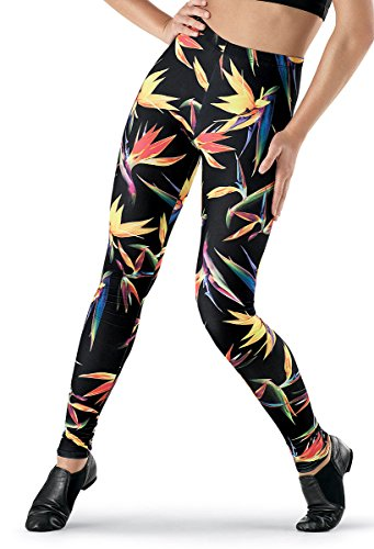 Discount Balera See You Monday Leggings Ankle Length Exotic Floral Print hot sale