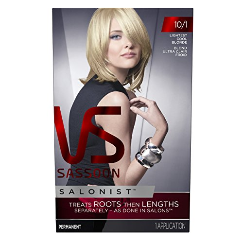 Vidal Sassoon Salonist Hair Colour Permanent Color 10/1 Lightest Cool Blonde Kit
