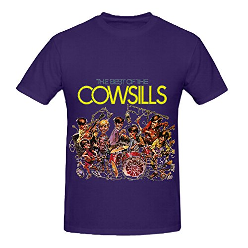 the-cowsills-the-best-of-the-cowsills-rock-album-cover-mens-crew-neck-graphic-tee-shirts-purple