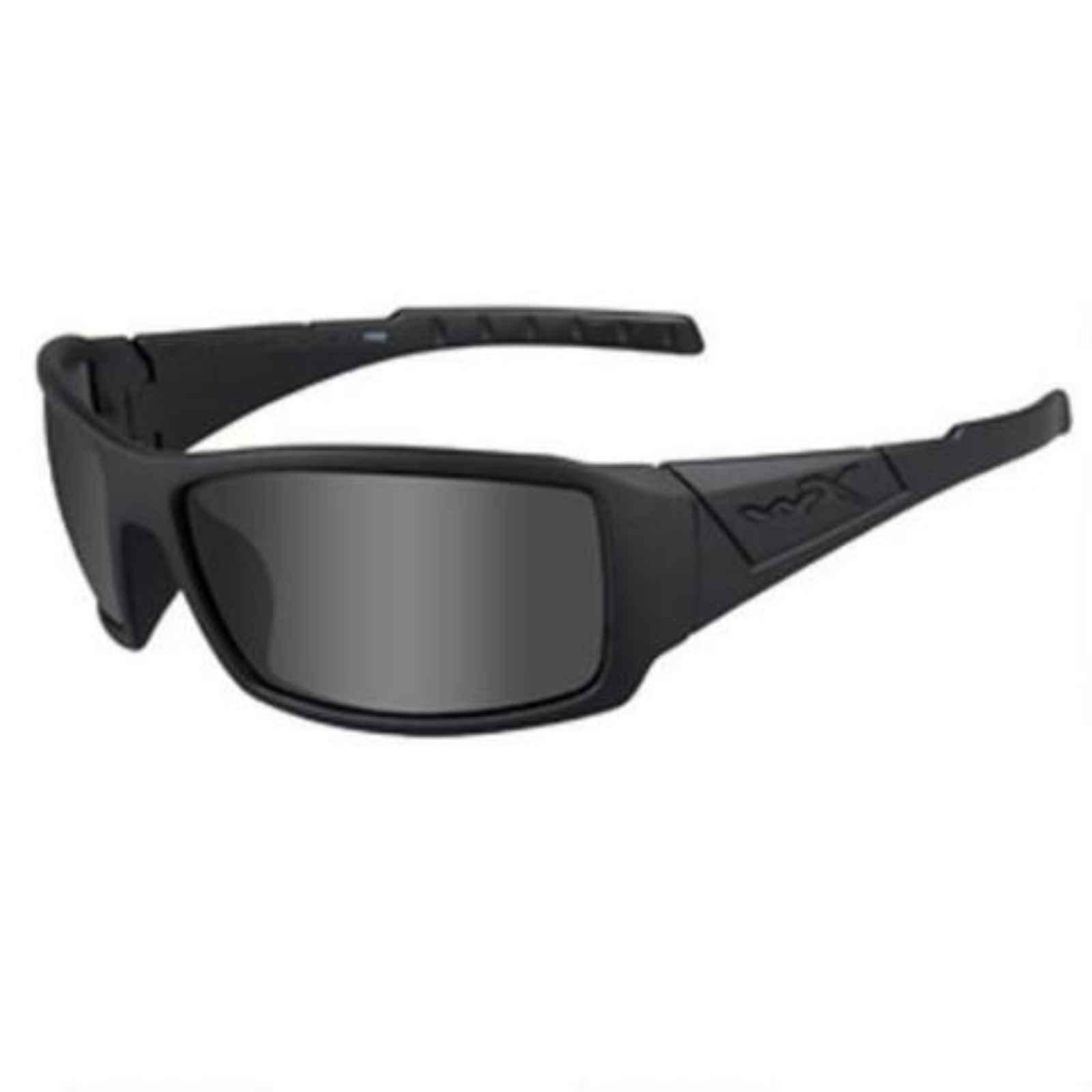 Wiley X SSTWI08 Twisted, Matte Black Frame, Polarized Smoke Gray Lens Polarized Sunglasses for Military Men for Military Women
