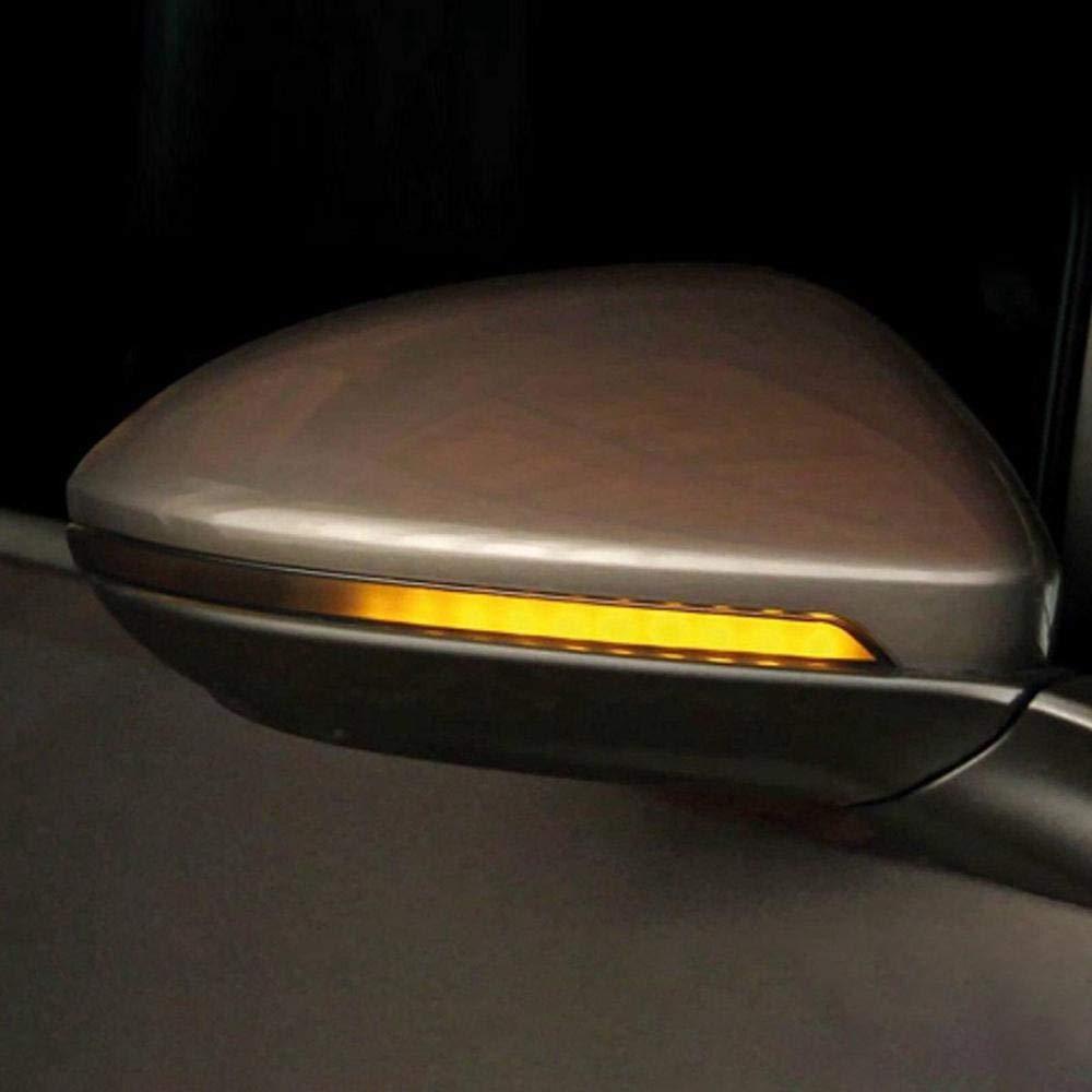 UMIWE Lumiere LED Retroviseur Clignotant R/éTroviseur Indicateurs Dynamique Lampe Ambre Voiture Assembl/éEs Miroir Dynamique Clignotant LED Indicateur De Lumi/èRe Fit V-W Passat B8 Arteon