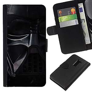 JackGot ( Darth Vader Mask ) LG G2 D800 la tarjeta de Crédito Slots PU Funda de cuero Monedero caso cubierta de piel