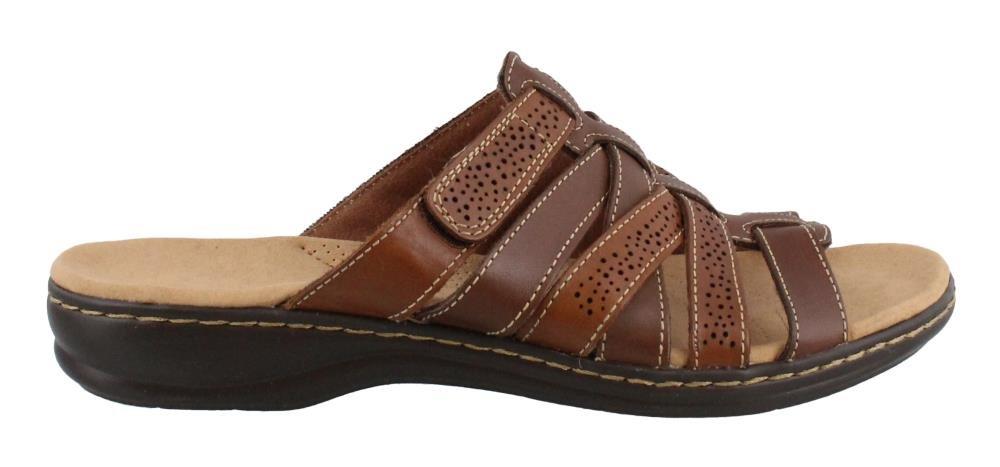 CLARKS Women's Leisa Field Platform, Brown Multi Leather, 8 Medium US