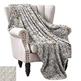 Weave Pattern Extra Long Blanket,Bunch of Cats Sweet Family Animals Best Company Doodle Style Kitties Baby Cartoon 50''x30'',Super Soft and Comfortable,Suitable for Sofas,Chairs,beds