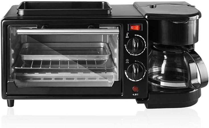 A~LICE&MBJ& Desayuno Maker, 3 en 1 multifunción hogar automático tostadora cafetera máquina de Pan Horno eléctrico: Amazon.es