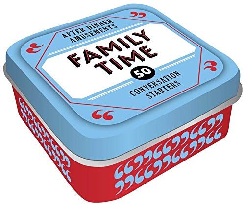 After Dinner Amusements: Family Time: 50 Conversation Starters (Conversation Card Game for Families, Portable Camping & Holiday Games) (Cheap Family Dinners)