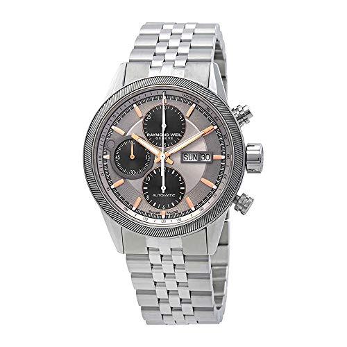 - Raymond Weil Freelancer Chronograph Automatic Grey Dial Mens Watch 7731-ST2-65655
