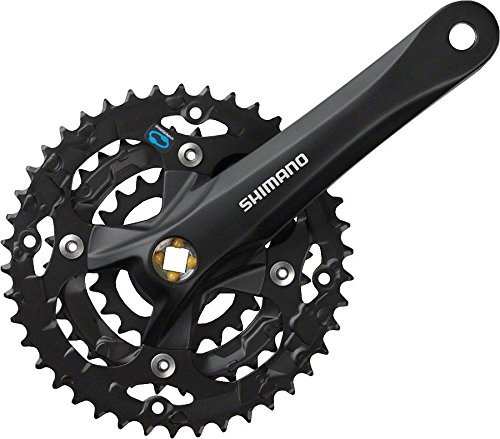 SHIMANO Acera M361 175mm 28/38/48t, Square, without Chain Guard, Black by SHIMANO