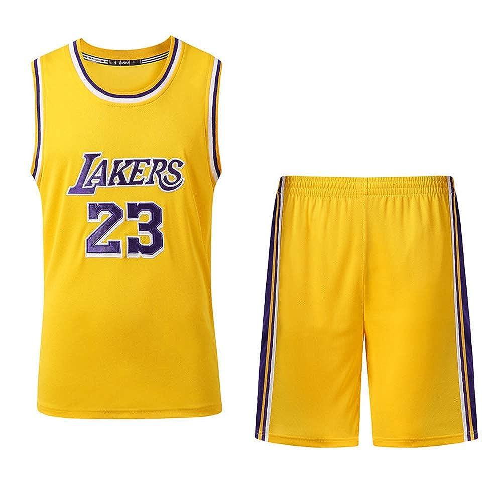 Se USA para el n/úmero 23 de fan/áticos de Lebron James Los Angeles Ni/ños Ni/ñas Conjuntos de Camisetas de Baloncesto Uniformes de Baloncesto Chalecos de Camisas Pantalones Cortos