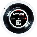 Gamma Deportes Moto 16G Carrete de Cuerda para Raqueta de Tenis, 660', Negro