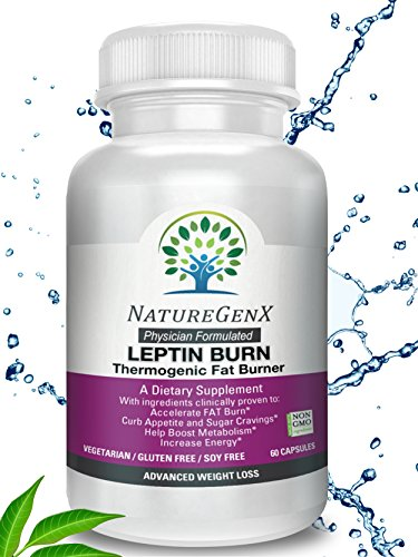 (NatureGenX - Leptin Burn -Doctor Formulated Thermogenic Fat Burner, Clinically Proven - Appetite Control and Boost Metabolism, Leptin Supplements for Weight Loss Woman and Men, Non-GMO, No Soy, 60 ct)