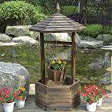 Fir Wood Garden Wishing Well Planter