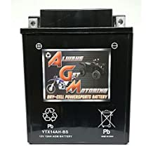 AGM Brand Or Similar Replacement For Arctic Cat 700 700 2006-2008 YTX14AH-BS Sealed Maintenace Free Battery High Performance 12V SMF OEM Maintenance Free Powersport Motorcycle ATV Scooter Snowmobile KMG -By Saskbattery