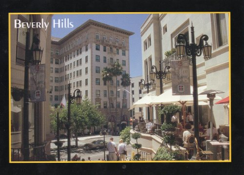 92 BEVERLY HILLS CALIFORNIA POSTCARD - from Hibiscus - Hills At Shopping Beverly