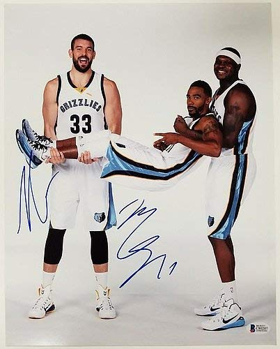 7ac451dda Mike Conley Marc Gasol Signed 11x14 Photo Memphis Grizzlies ~Beckett ...